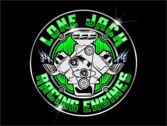 Lone Jack Racing Engines  logo design