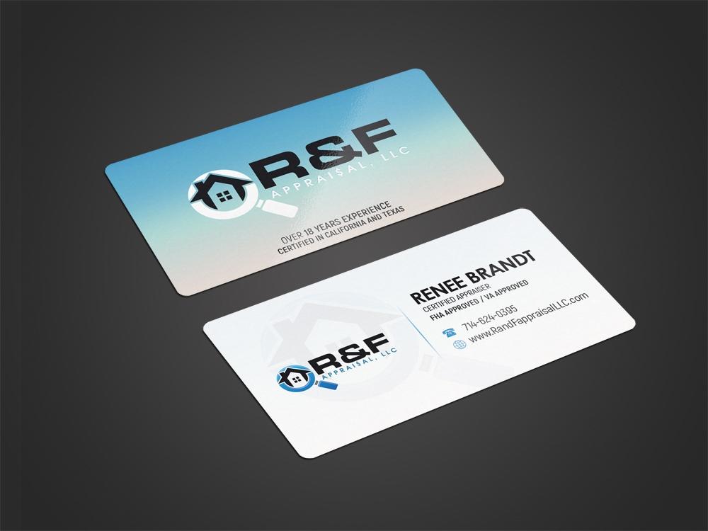 R&F Appraisal, LLC logo design