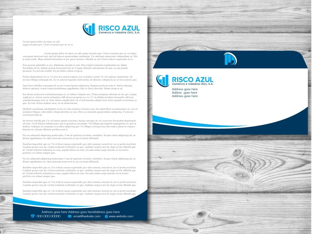 Risco Azul logo design