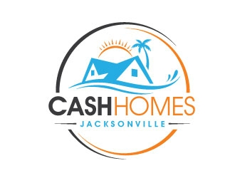 Cash Homes Jacksonville logo design