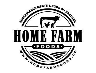 Home Farm Foods logo design