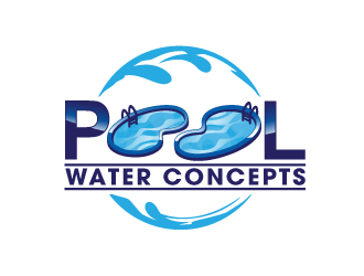Pool Water Concepts  logo design