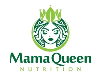 Mama Queen Nutrition logo design