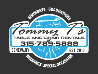 Tommy Ts Table and Chair Rentals logo design