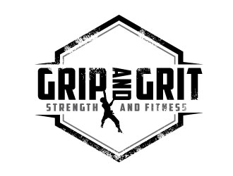 Grip and Grit     Strength and Fitness logo design