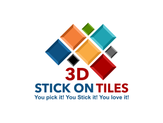 3D Stick On Tiles Logo Design