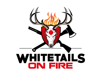 Whitetails On Fire logo design