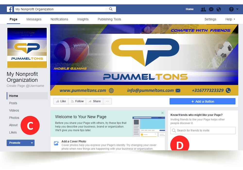 Pummel Tons logo design