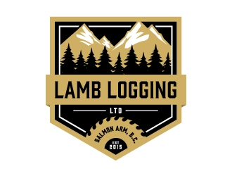 Lamb Logging Ltd. logo design