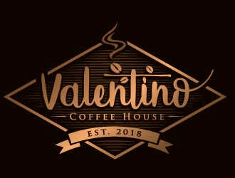 Valentino Coffee House logo design