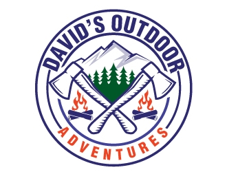 Davids Outdoor Adventures logo design