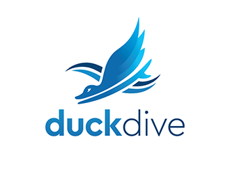 duckdive logo design