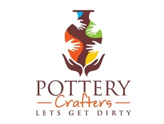 Pottery Crafters/ Tagline is Lets Get Dirty logo design