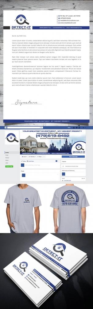 Detect- It Real Estate Inspections logo design
