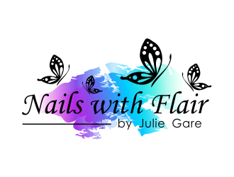 Nails with Flair by Julie Gare logo design