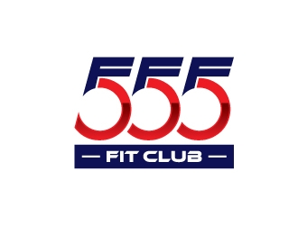 555 FIT CLUB logo design