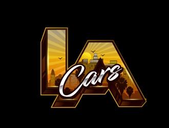 LA Cars logo design