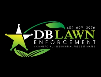 DB LAWN ENFORCEMENT logo design