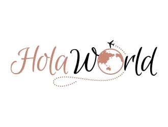 Hola World logo design