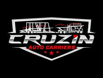 Cruzin Auto Carriers logo design