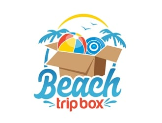 Beach Trip Box logo design
