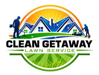 Clean Getaway Lawn Service LLC logo design