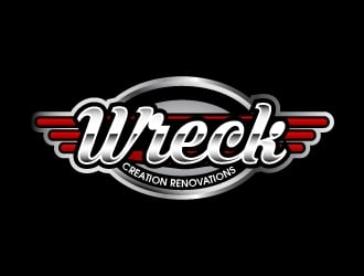 Wreck Creations Remodeling Services logo design