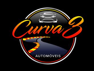 Curva 3 - Comercio de Veiculos logo design