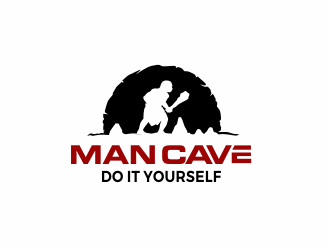 Man Cave Do It Yourself logo design