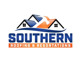 Southern Roofing & Resortations logo design