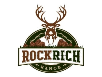 Rock Rich Ranch logo design