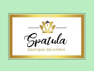 Spatula Boutique Gelateria logo design