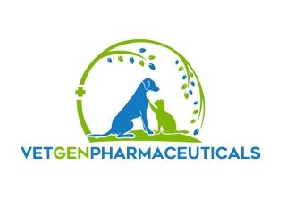 VetGenPharmaceuticals logo design by gilkkj