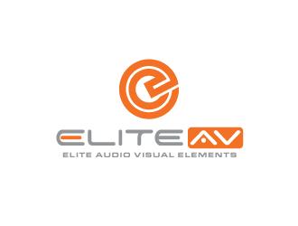 Elite Audio Visual Elements logo design