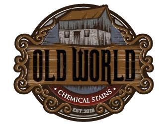 Old world Chemical Stains logo design