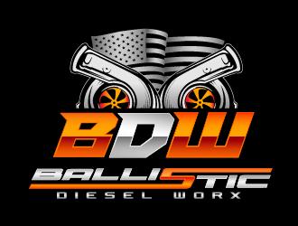 Ballistic Diesel Worx logo design