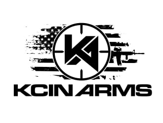 KCIN ARMS logo design