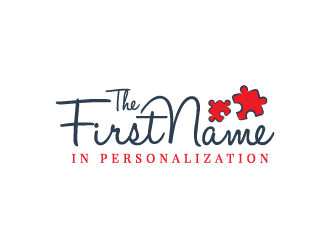 The First Name in Personalization logo design