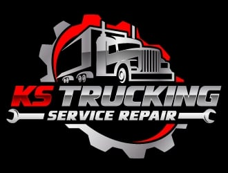 K S Trucking Service Repair logo design