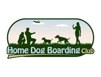 Home Dog Boarding Club logo design
