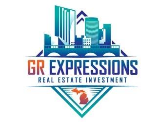 GR Expressions  logo design