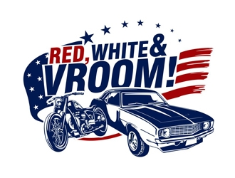 Red, White & Vroom logo design