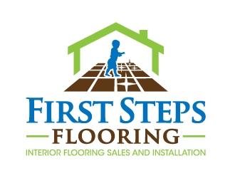 First Steps Flooring logo design
