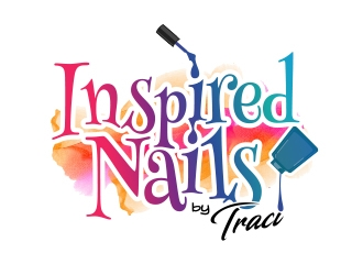 Inspired Nails by Traci logo design