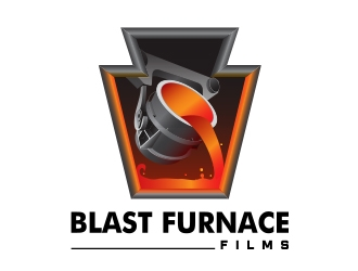 Blast Furnace Films logo design