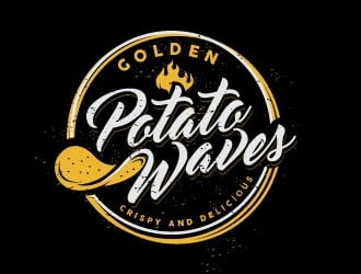 Golden Potato Waves logo design