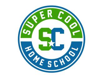 Super Cool Home School logo design