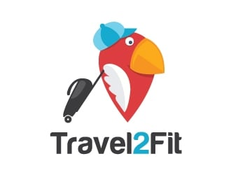 travel2fit logo design