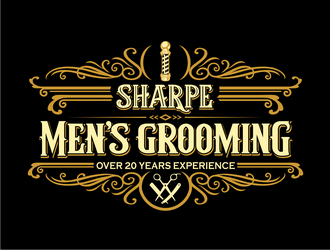 Sharpe Mens Grooming logo design