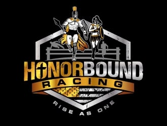 HonorBound Racing logo design